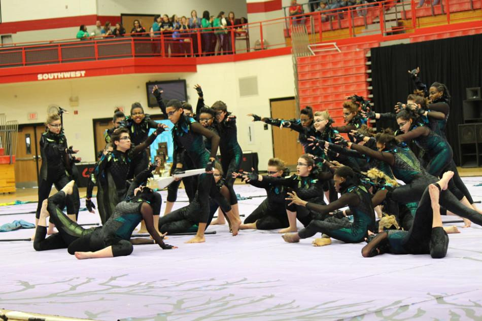 Winter guard captures state